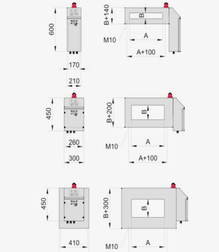 Dimensiones detector metales GRSC