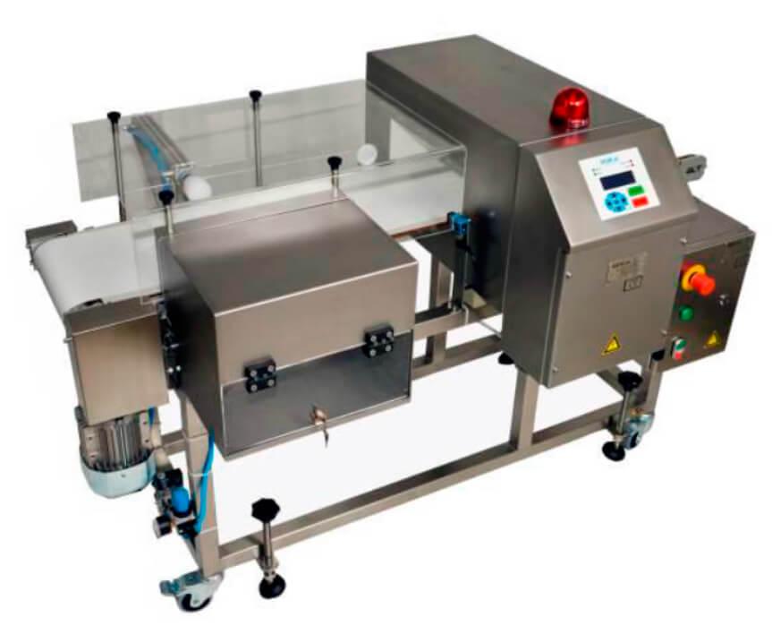 Detector de metales GRSC con cinta transportadora